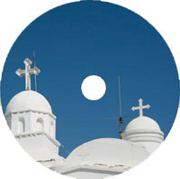 printed disc church template - two crosses