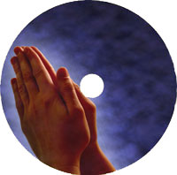 printed disc church template - hands in prayer