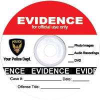 law enforcement template: red evidence disc