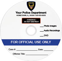 law enforcement template: blue evidence disc