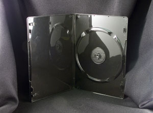 slim DVD case with smooth interior