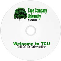 sample printed dvd for university orientation