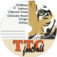 sample preprinted disc for schools featuring a mascot