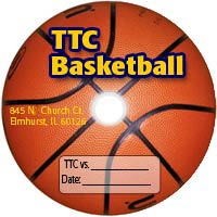 sample printed dvd featuring a basketball